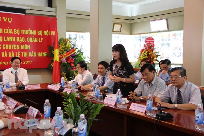 PGS.TS. Lê Thị Vân Hạnh phát biểu tại buổi Lễ