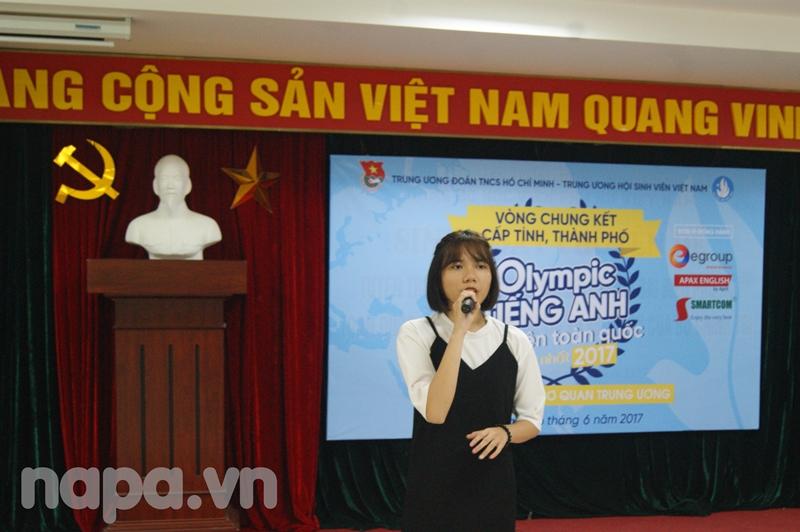Tiết mục văn nghệ do đoàn viên Học viện Hành chính Quốc gia biểu diễn tại cuộc thi