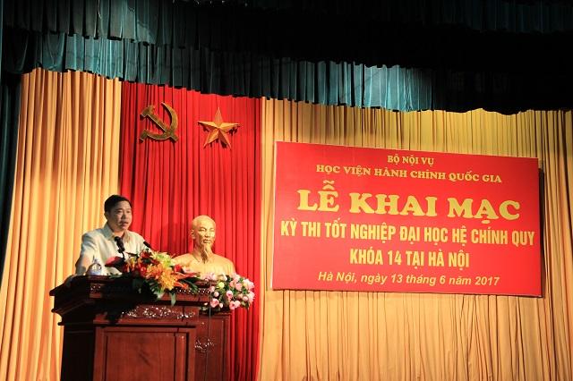 PGS.TS. Nguyễn Văn Hậu phát biểu tại Lễ khai mạc.