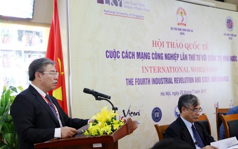 TS. Đặng Xuân Hoan – Giám đốc Học viện Hành chính Quốc gia phát biểu khai mạc Hội thảo