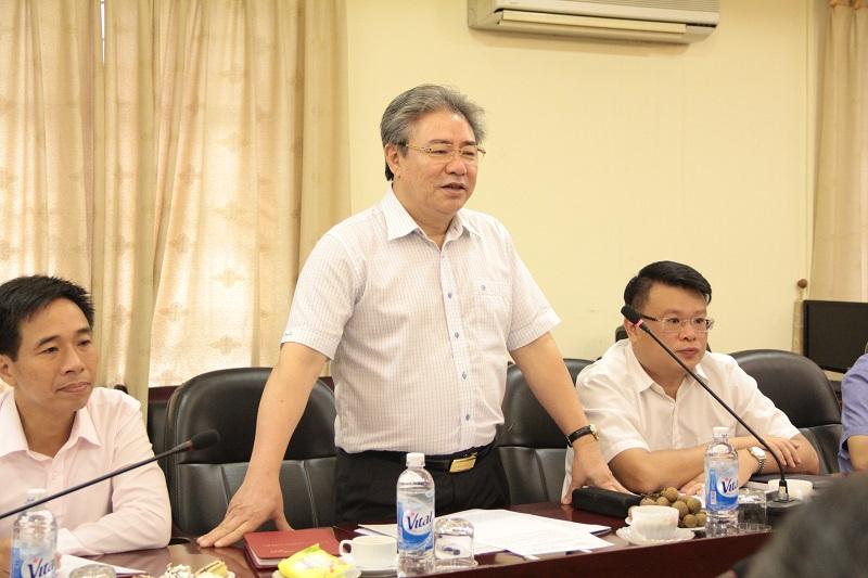 TS. Đặng Xuân Hoan - Giám đốc Học viện Hành chính Quốc gia phát biểu mở đầu buổi làm việc