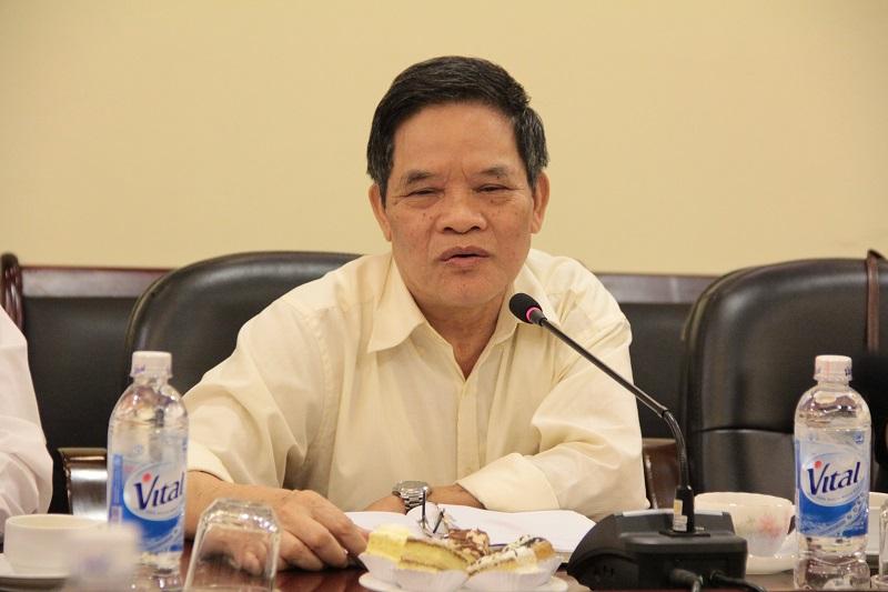 ThS. Bùi Xuân Lự - Tổng Thư ký Hội cựu giáo chức Học viện phát biểu tại buổi làm việc