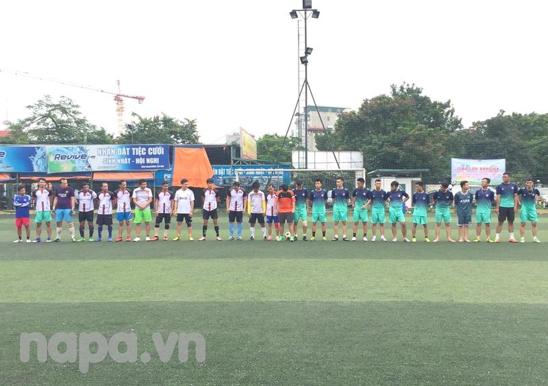 Đội hình hai đội trước trận giao lưu