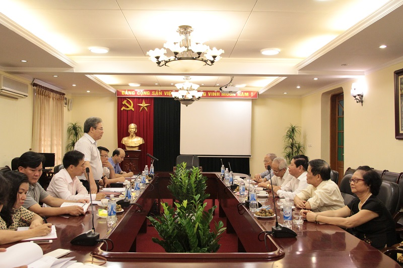 TS. Đặng Xuân Hoan - Giám đốc Học viện Hành chính Quốc gia phát biểu kết luận buổi làm việc