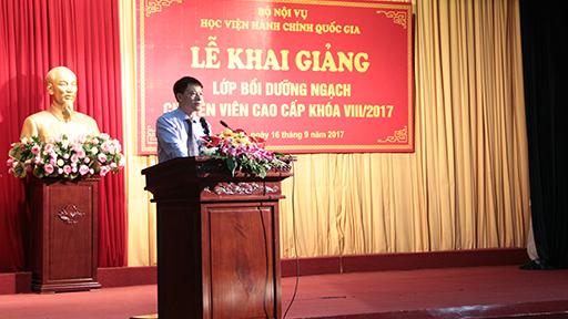 ThS.Tống Đăng Hưng công bố các quyết định thành lập khóa học