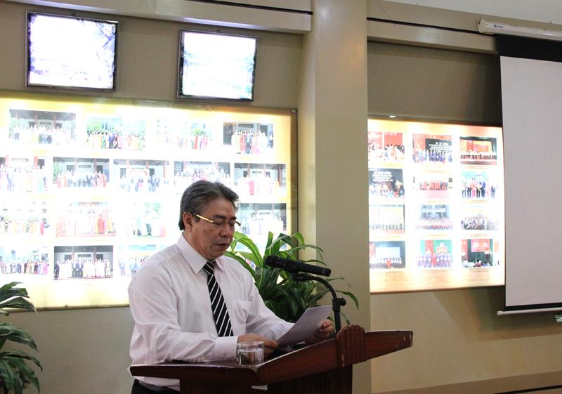 TS. Đặng Xuân Hoan, Giám đốc Học viện phát biểu tại Hội nghị