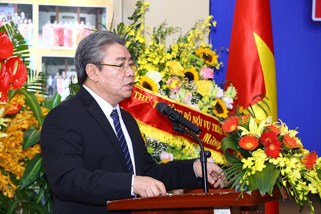 TS. Đặng Xuân Hoan, Giám đốc Học viện phát biểu chúc mừng tại Lễ kỷ niệm