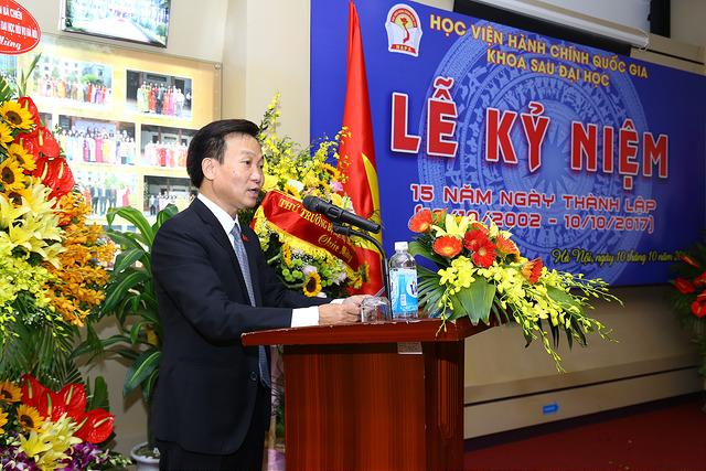 TS. Nguyễn Minh Sản – Phó Trưởng Khoa Sau đại học phát biểu tại Lễ kỷ niệm