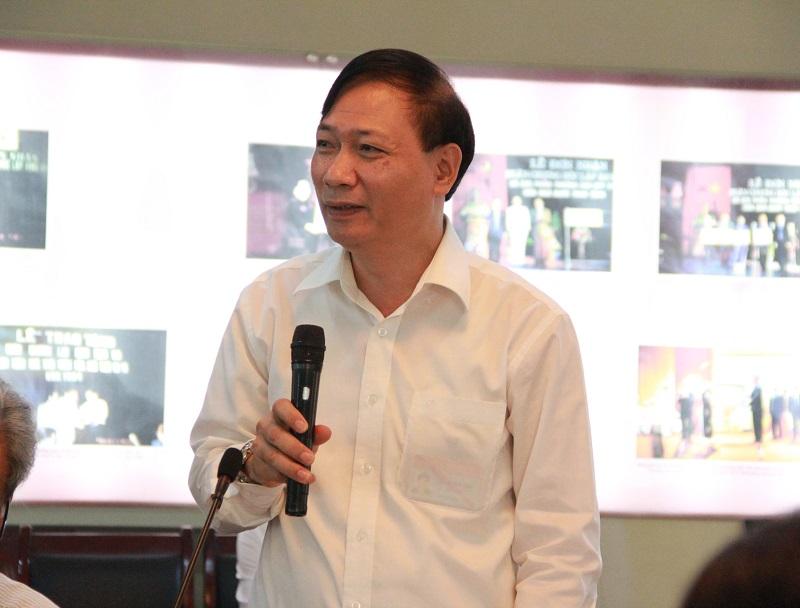 Ông Thái Quang Toản – Vụ trưởng Vụ Tổ chức – Biên chế, Bộ Nội vụ phát biểu tại Hội thảo.