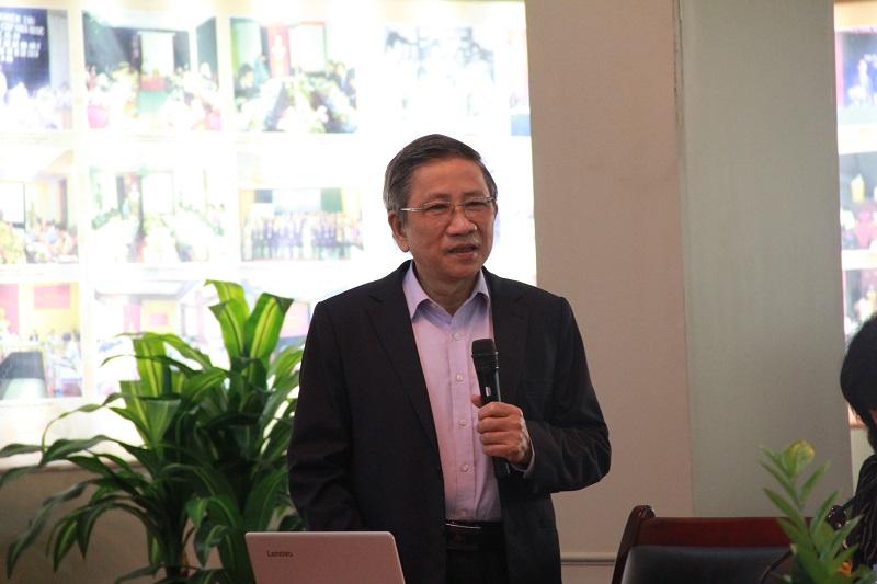 GS.TS. Nguyễn Minh Thuyết – nguyên Phó Chủ nhiệm Ủy ban Văn hóa, Giáo dục, Thanh niên, Thiếu niên và Nhi đồng của Quốc hội chia sẻ tại Tọa đàm