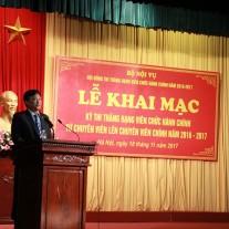 Thứ trưởng Bộ Nội vụ Nguyễn Duy Thăng phát biểu chỉ đạo tại Lễ Khai mạc Kỳ thi nâng hạng viên chức hành chính