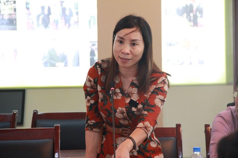 TS. Nguyễn Thị Hường – Phó Trưởng Khoa phụ trách Khoa QLNN về xã hội phát biểu tại Tọa đàm
