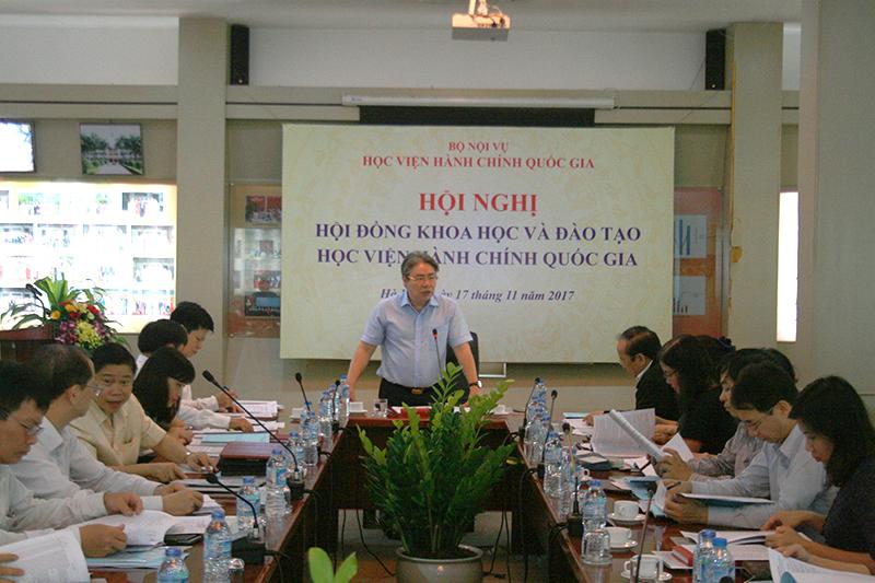 TS. Đặng Xuân Hoan - Giám đốc Học viện chủ trì Hội nghị