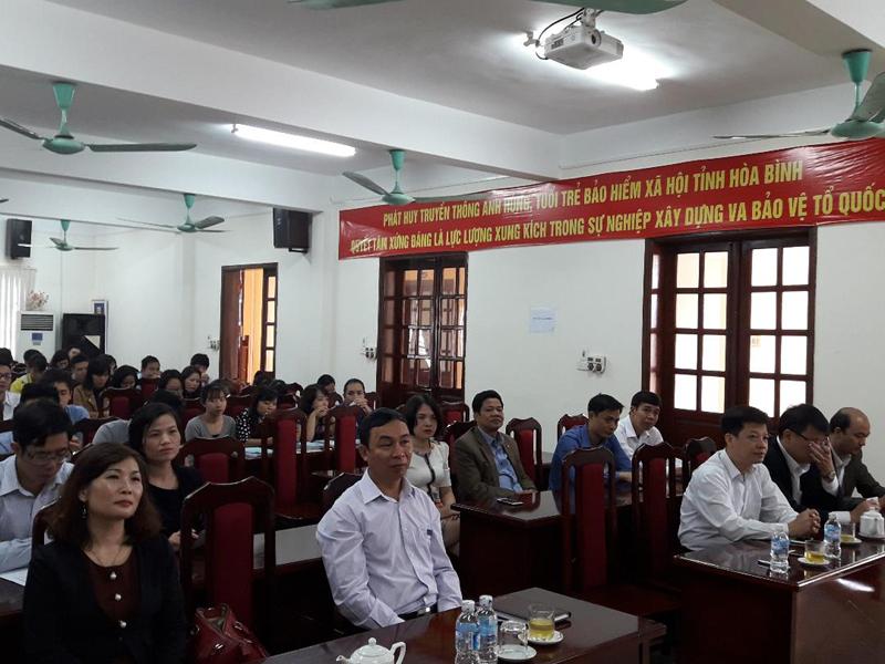 Toàn cảnh lớp học bồi dưỡng ngach chuyên viên của Bảo hiểm xã hội tỉnh Hòa Bình