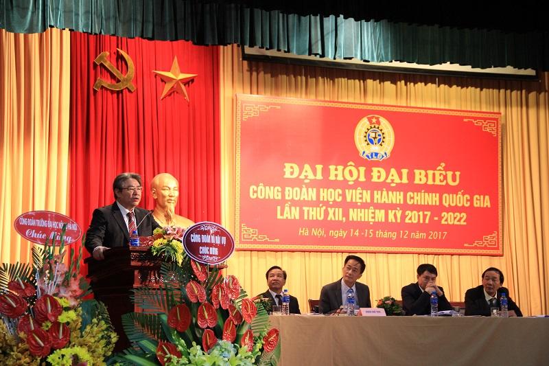 TS. Đặng Xuân Hoan – Bí thư Đảng ủy, Giám đốc Học viện phát biểu chỉ đạo Đại hội