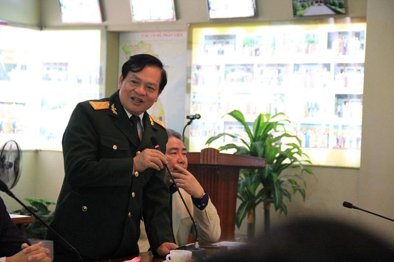 TS. Hoàng Quang Đạt – Phó Bí thư Đảng ủy Học viện chia sẻ kỷ niệm tại buổi Lễ