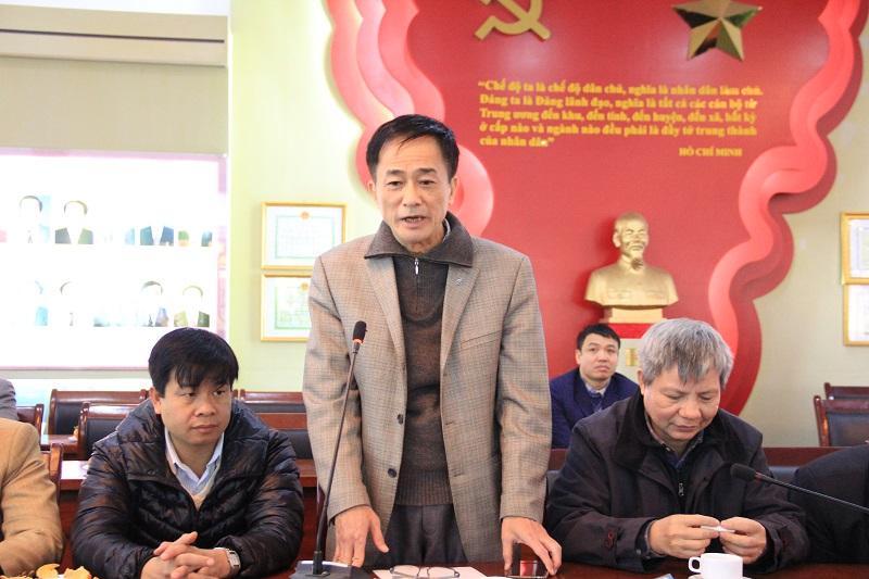 TS. Chu Xuân Khánh – Chủ tịch Công đoàn Học viện chia sẻ kỷ niệm tại buổi Lễ