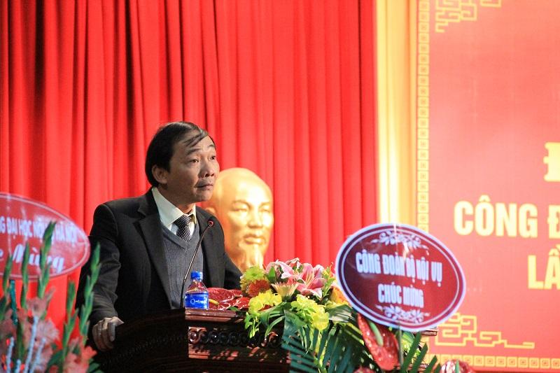 Đại diện Công đoàn cơ sở Học viện tại Khu vực miền Trung tham luận tại Đại hội