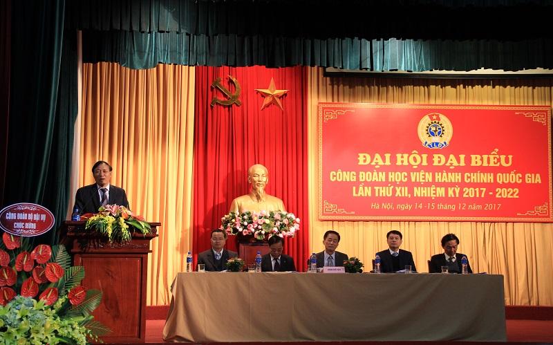 Đồng chí Thái Quang Toản – Chủ tịch Công đoàn Bộ Nội vụ phát biểu chỉ đạo Đại hội