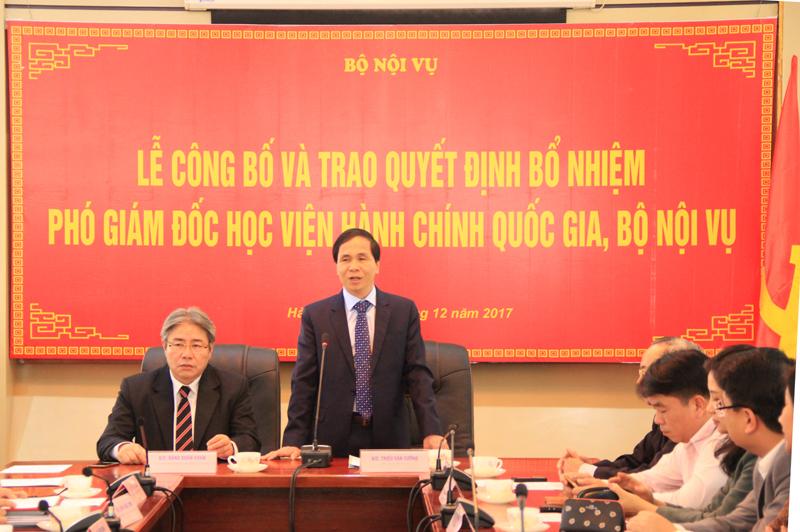 Thứ trưởng Bộ Nội vụ Triệu Văn Cường phát biểu tại buổi Lễ