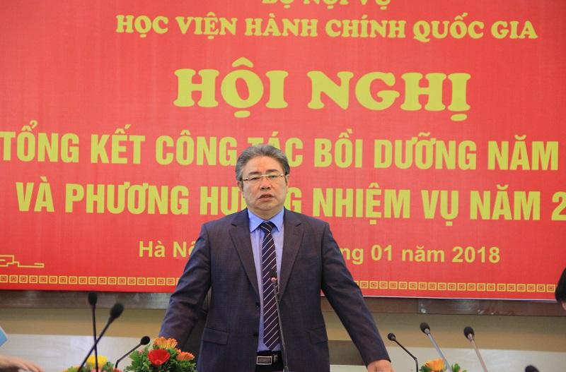 TS. Đặng Xuân Hoan – Bí thư Đảng ủy, Giám đốc Học viện phát biểu khai mạc Hội nghị