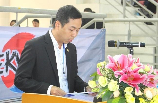 Trưởng Ban Tổ chức Giải phát biểu khai mạc