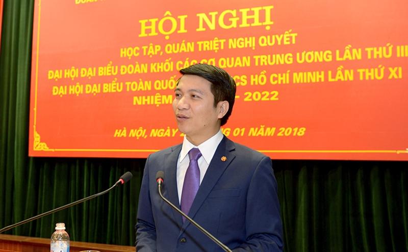 Đồng chí Nguyễn Ngọc Lương phổ biến, quán triệt Nghị quyết Đại hội Đại biểu toàn quốc Đoàn TNCS Hồ Chí Minh lần thứ XI