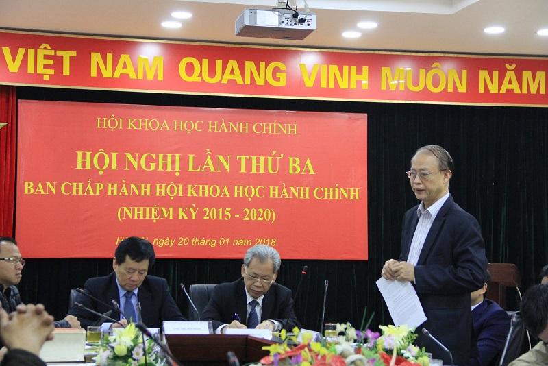 Ông Phạm Văn Tân – Phó Chủ tịch kiêm Tổng Thư ký Liên hiệp các Hội khoa học và kỹ thuật Việt Nam phát biểu tại Hội nghị