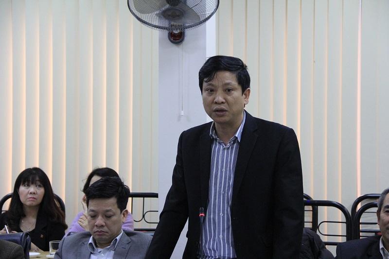 Ông Tạ Tấn - Phó Vụ trưởng Vụ Tổ chức phi chính phủ - Bộ Nội vụ phát biểu tại Hội nghị