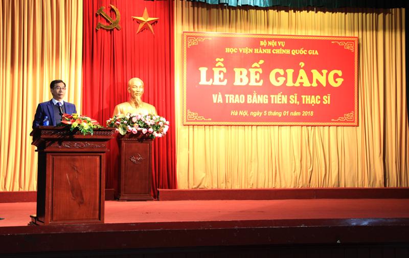 PGS.TS. Lương Thanh Cường – Phó Giám đốc Học viện phát biểu tại buổi lễ
