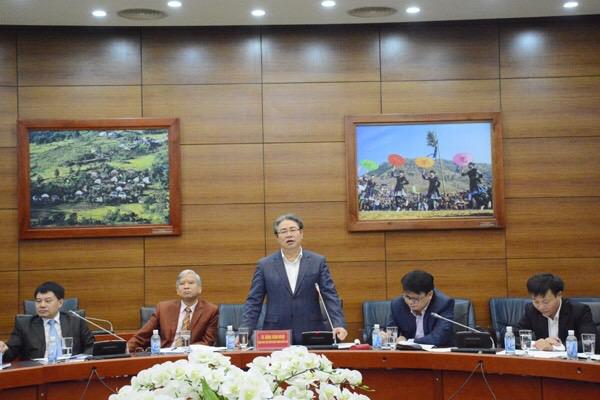 TS. Đặng Xuân Hoan -Giám đốc Học viện phát biểu tại buổi làm việc