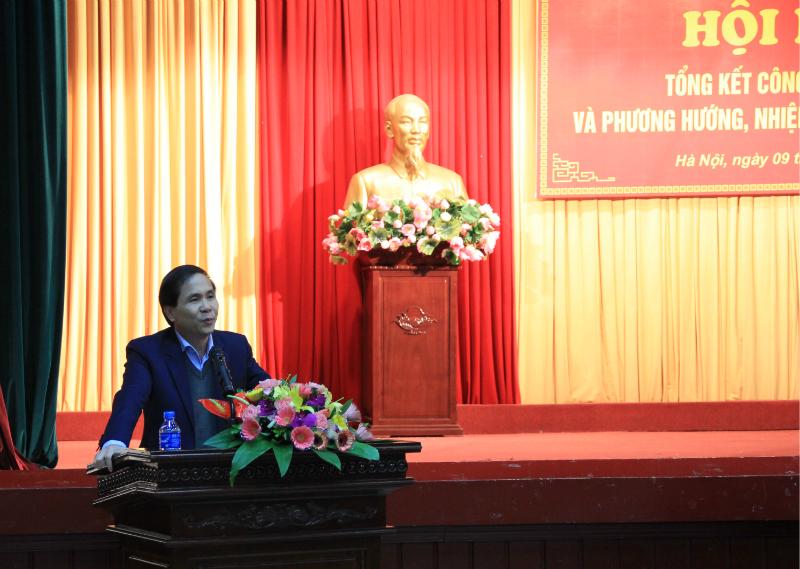 NGƯT.PGS.TS. Triệu Văn Cường – Phó Bí thư Đảng ủy Bộ, Thứ trưởng Bộ Nội vụ phát biểu ý kiến tại Hội nghị