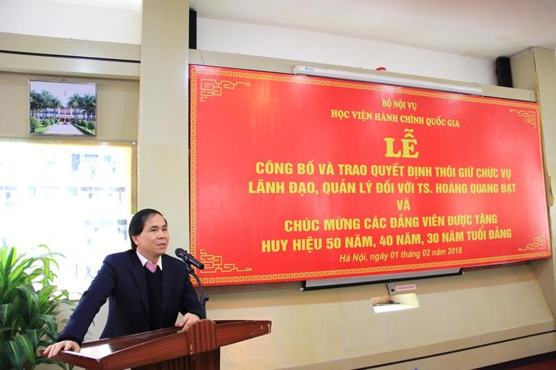 Đồng chí Triệu Văn Cường phát biểu tại buổi Lễ