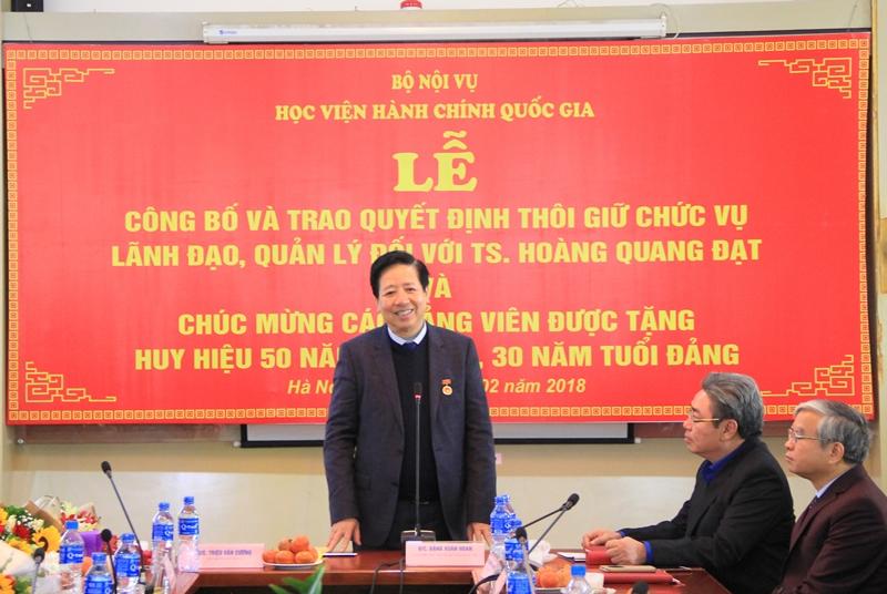 Đồng chí Nguyễn Trọng Điều phát biểu tại buổi Lễ
