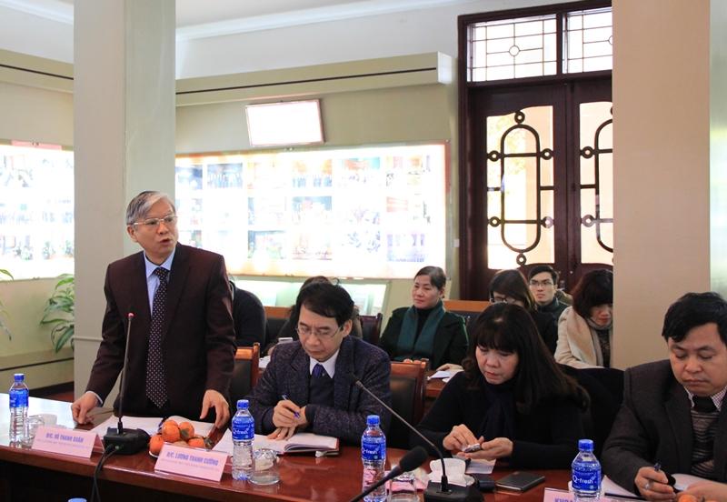 TS. Vũ Thanh Xuân – Phó Giám đốc Học viện phát biểu ý kiến tại Hội nghị