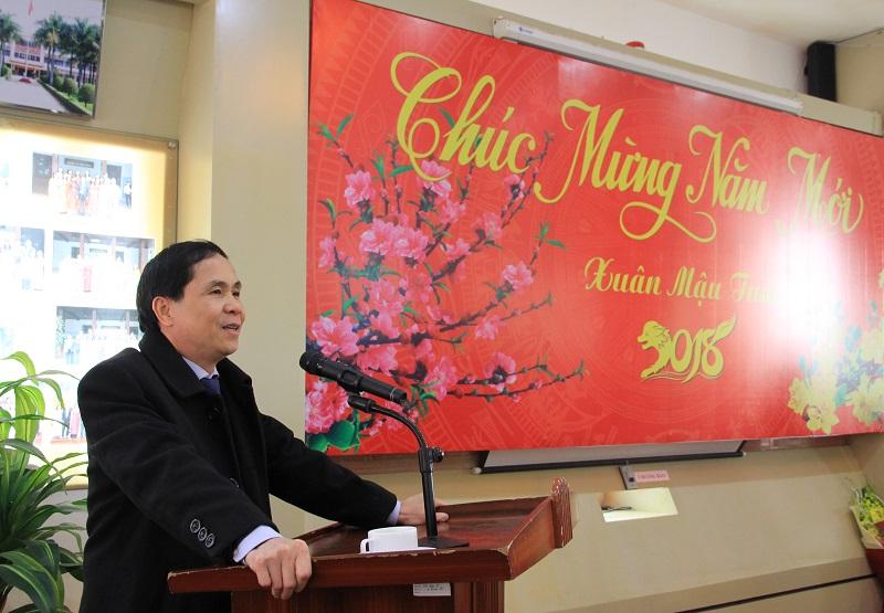 PGS.TS. Triệu Văn Cường – Thứ trưởng Bộ Nội vụ phát biểu tại buổi gặp mặt