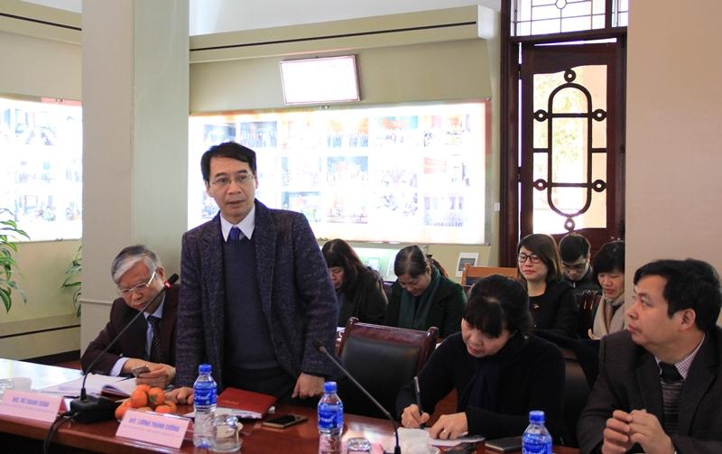 PGS.TS. Lương Thanh Cường – Phó Giám đốc Học viện phát biểu ý kiến tại Hội nghị