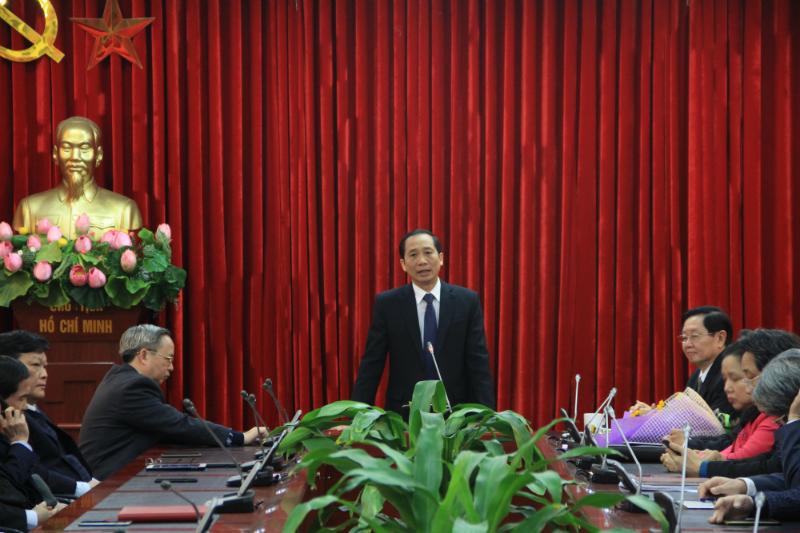 Đồng chí Nguyễn Bá Chiến phát biểu tại buổi lễ