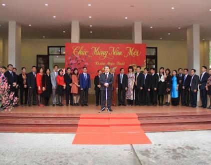 Giám đốc Học viện Đặng Xuân Hoan phát biểu chúc mừng năm mới