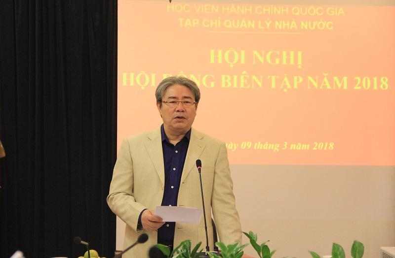 TS. Đặng Xuân Hoan – Giám đốc Học viện, Chủ tịch HĐBT phát biểu khai mạc Hội nghị