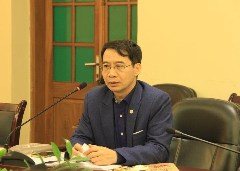 PGS.TS. Lương Thanh Cường – Phó Giám đốc Học viện, ủy viên HĐBT nêu ý kiến tại Hội nghị