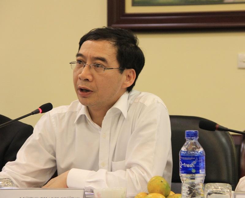 PGS. TS. Lương Thanh Cường, Phó Giám đốc Học viện phát biểu tại buổi làm việc