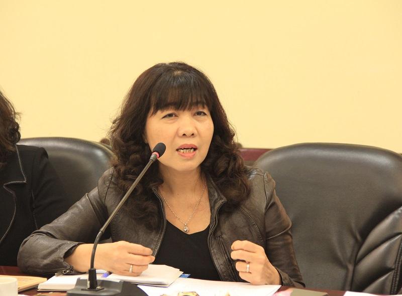PGS.TS. Lê Thị Vân Hạnh – nguyên Phó Giám đốc Học viện nêu quan điểm tại Hội nghị