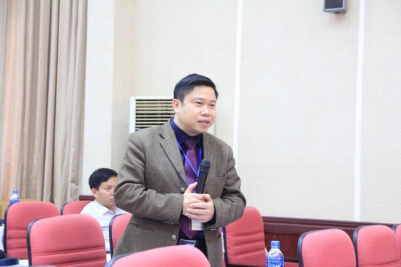 PGS.TS. Nguyễn Văn Hậu – Học viện Hành chính Quốc gia phát biểu tại Hội thảo