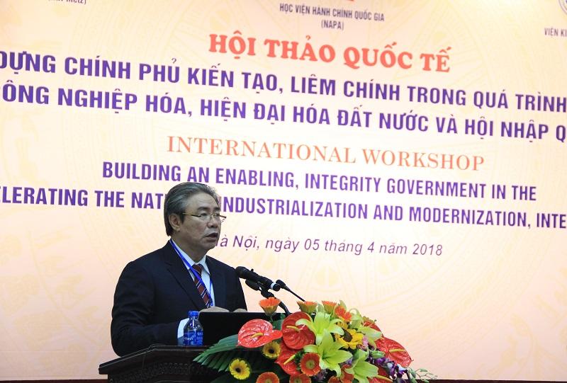 TS. Đặng Xuân Hoan – Giám đốc Học viện phát biểu đề dẫn Hội thảo