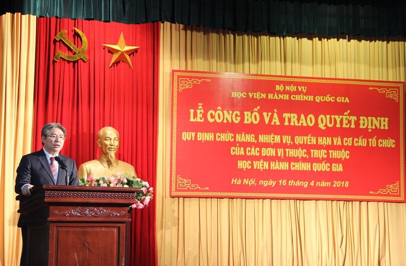 TS. Đặng Xuân Hoan – Giám đốc Học viện phát biểu chỉ đạo tại buổi Lễ