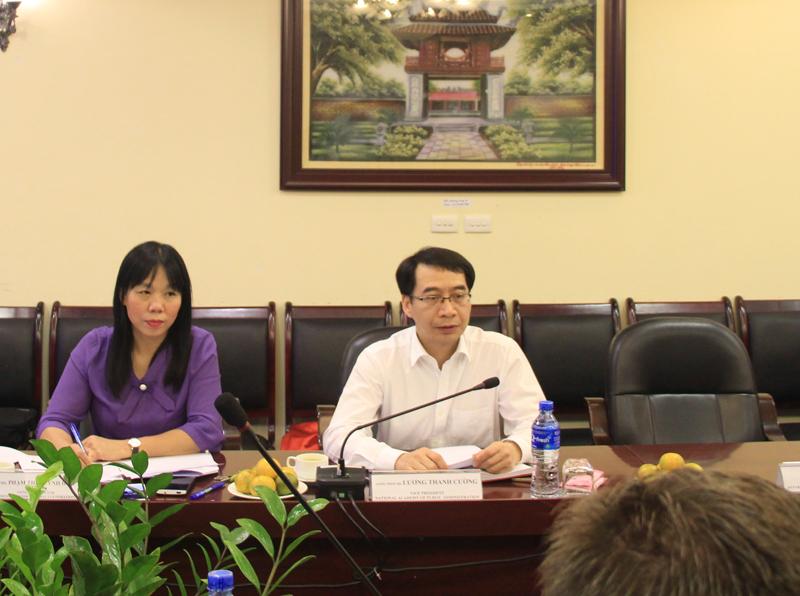 PGS. TS Lương Thanh Cường phát biểu tại buổi làm việc