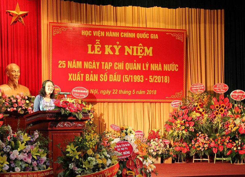 TS. Lê Kim Hải – nguyên Phó Tổng Biên tập Tạp chí phát biểu tại buổi Lễ