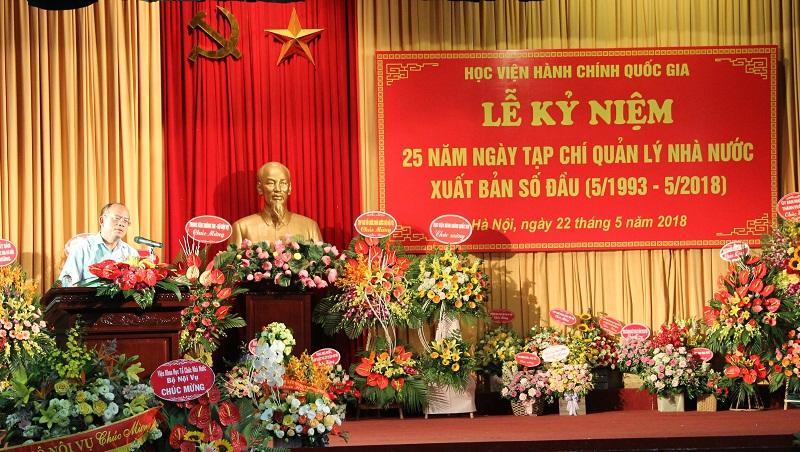 PGS. TSKH. Trần Nguyễn Tuyên - Thư ký Tiểu ban Quốc phòng – An ninh – Đối ngoại, Hội đồng Lý luận Trung ương phát biểu tại buổi Lễ