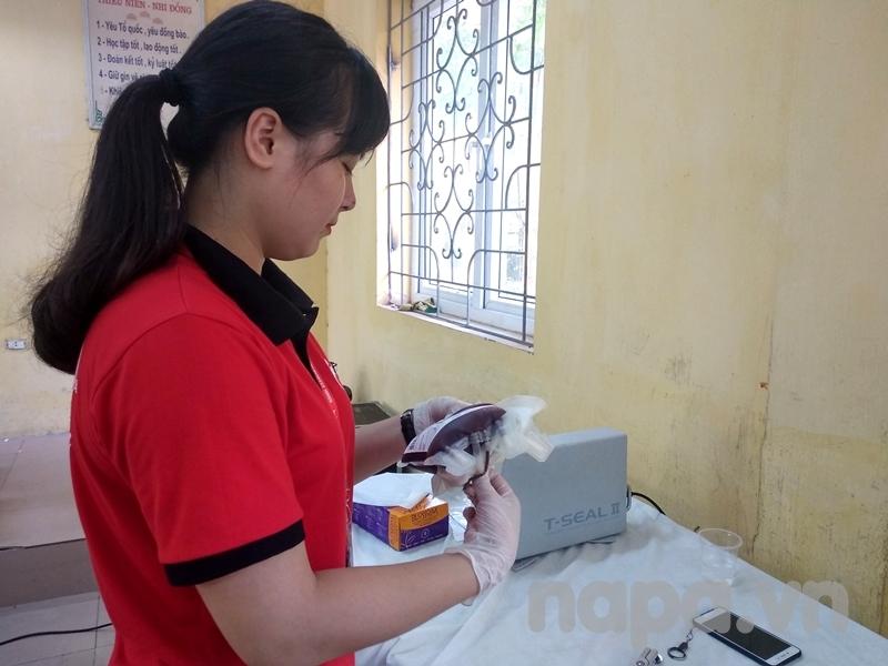 Những đơn vị máu tiếp nhận tại chương trình được bảo quản cẩn thận và đúng quy định